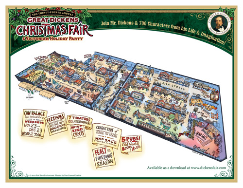 Map of the Dickens Fair